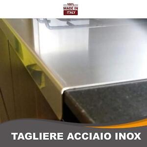 Tagliere in acciaio inox per proteggere il piano cucina 60 X 40 X ...