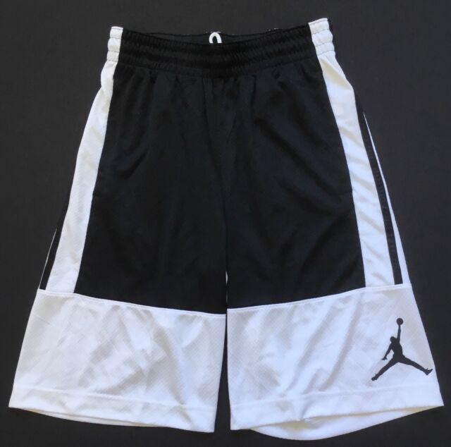94955b6ed4c Nike Mens Jordan Solid Rise Basketball Shorts Size XL Black White ...