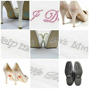 Self Adhesive Diamante Wedding Shoe Crystal Gems Bride Groom Sticker ... 9582cb62a534