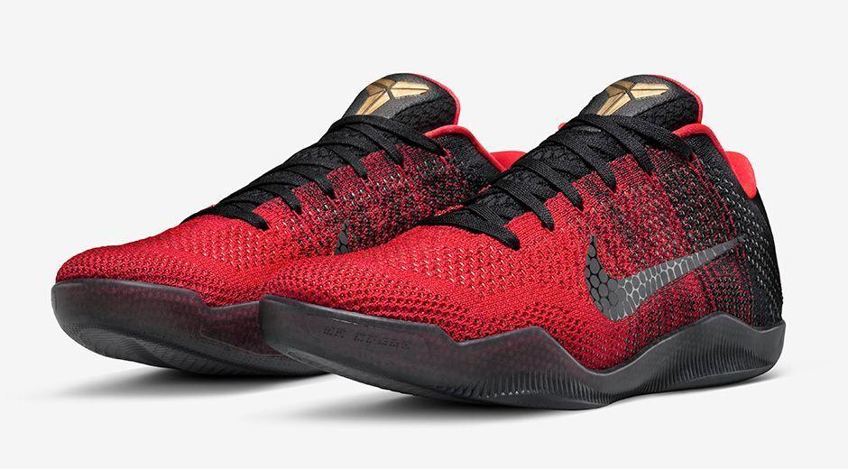 Nike kobe 11 xi tallone d'achille rosso dimensioni 822675-670 jordan ftb preludio