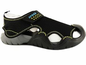 7b07644cdfd2 Crocs Men s Swiftwater Sandals Black Charcoal Size 9 M 887350175226 ...