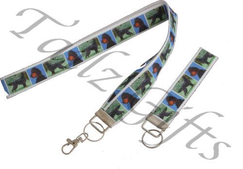 Gordon Setter Breed of Dog Matching LanyardKeyring Key RingBookmark