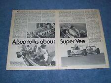 "1979 Bill Alsup Super Vee Race Car Info Article ""Alsup Talks About Super Vee"""