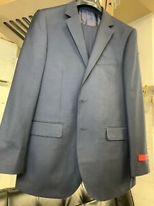 New-60R-Men-039-s-Navy-Blue-Suit-100-Wool-Super-150-Made-in-Italy-Retail-1295
