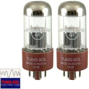 Brand New Tung-Sol Reissue 6SL7 GAIN MATCHED Pair (2) Vacuum Tube In Box