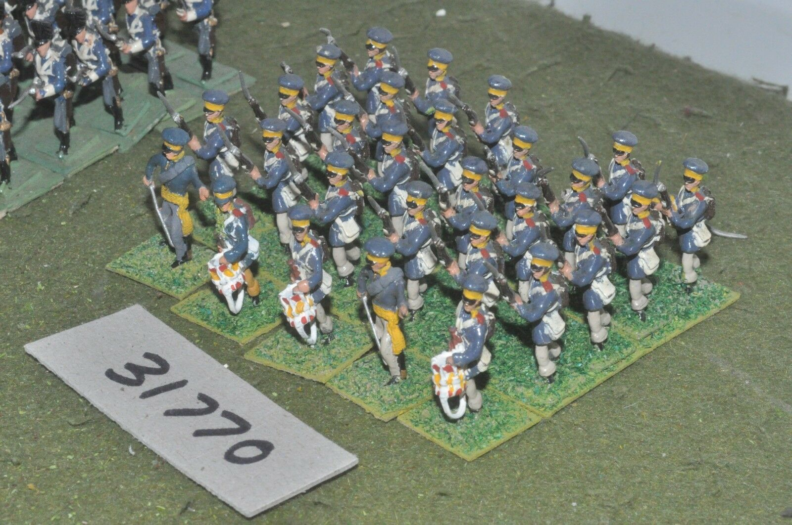 25mm napoleonic   prussian - landwher 29 figures - inf (31770)