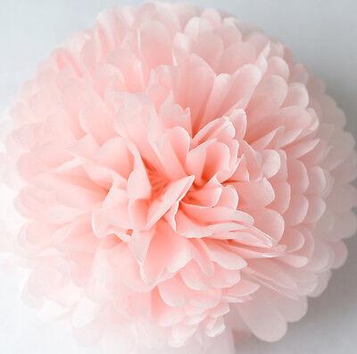 LIGHT PINK color tissue paper PomPom - party handmade pompoms