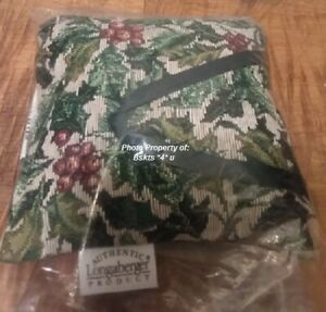 NEW-Longaberger-BASKET-HOLLY-BERRIES-Throw-Hang-Pillow-Ornament-Christmas-GIFT
