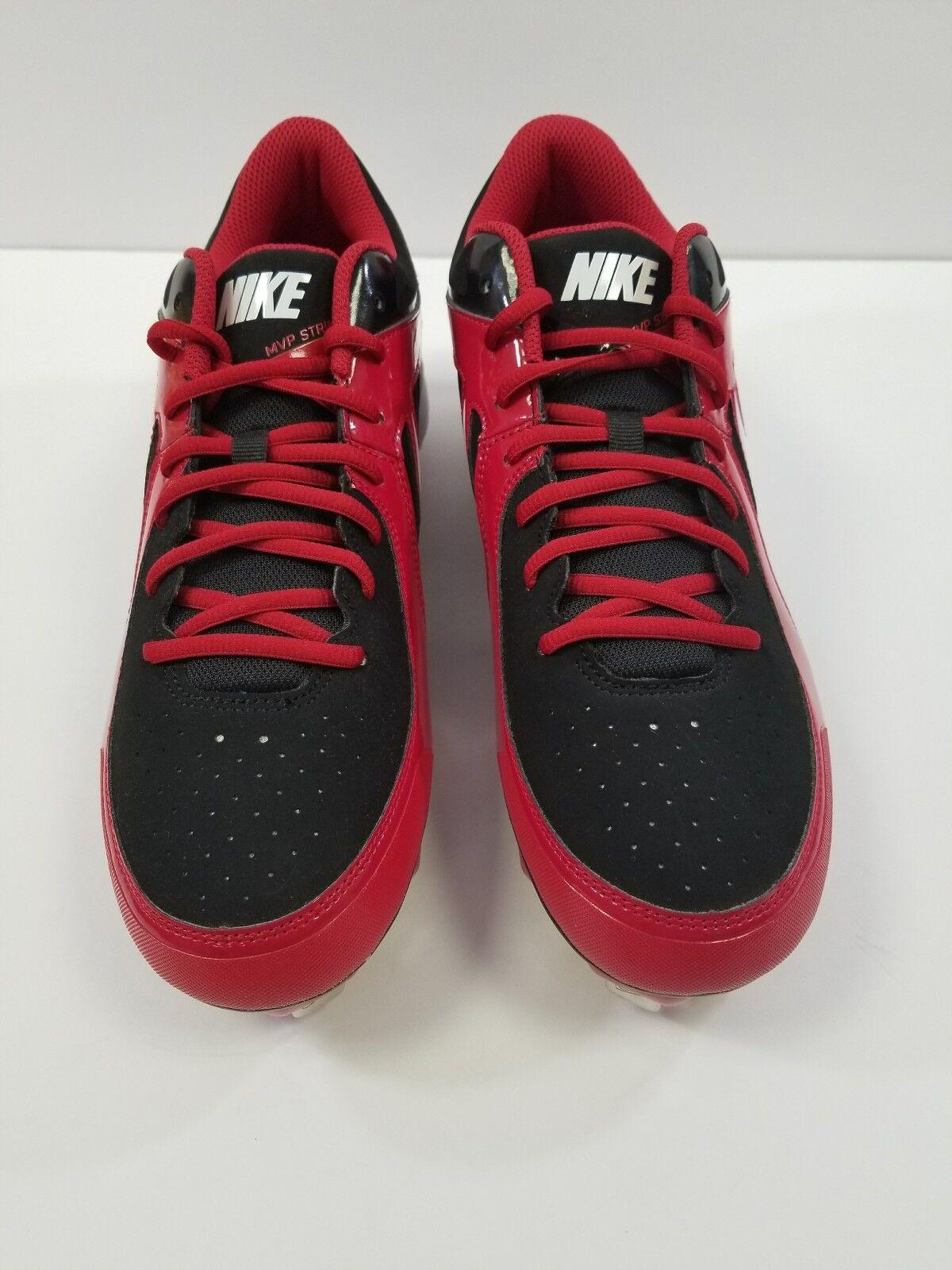 Nuevo hombre Nike MVP huelga metal Baseball cleats 10,5 Rojo / negro baja 10,5 cleats a48ab6