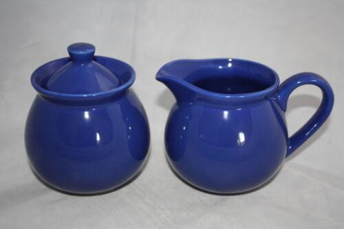 Zuckerdose mit Deckel Wächtersbach neu fun factory royal blau  Milchkännchen