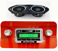 1964-1966 Ford Mustang In-dash Radio Stereo Ipod Input And Speaker Included