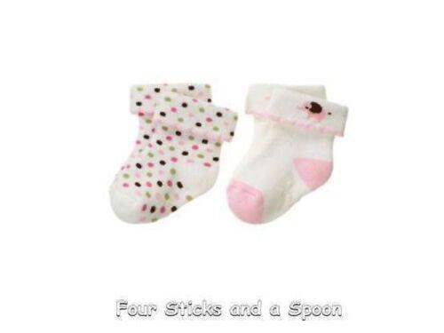 New Gymboree Brand New Baby Girl Pink Polka Dot Elephant Socks 6-12 M 12-18 M