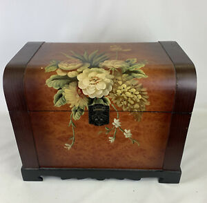 Retro-Vintage-Ottoman-Storage-Chest-Small-Hand-Painted-Floral-Trunk-With-Clasp