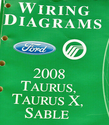 2008 Ford Taurus/Taurus X/Sable Wiring Diagrams/Manual-OEM ...
