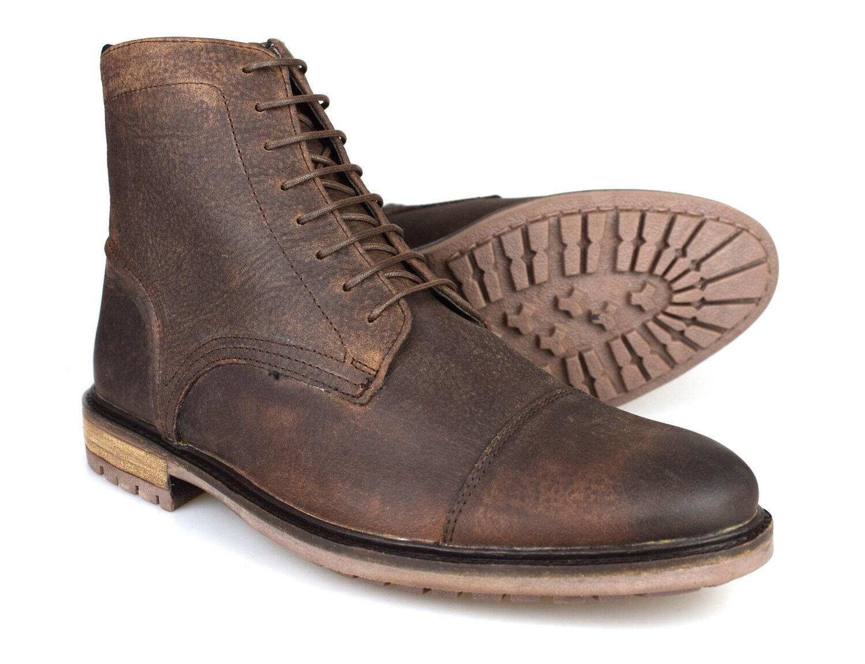 Silber Street London Tinturn braun Leather Mens Formal Stiefel Free UK P&P