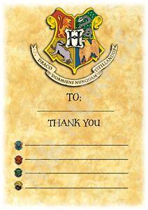 Colorful Crest Design Harry Potter A5 Kids Children/'s Party Invitations x 12