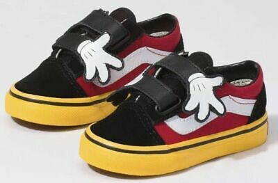 Vans X Disney Old Skool V Toddler Size 8C Mickey Mouse Shoes 8.0 | eBay