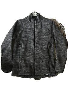 NEW-Adidas-Mens-Terrex-Fleece-Zip-Jacket-M-black