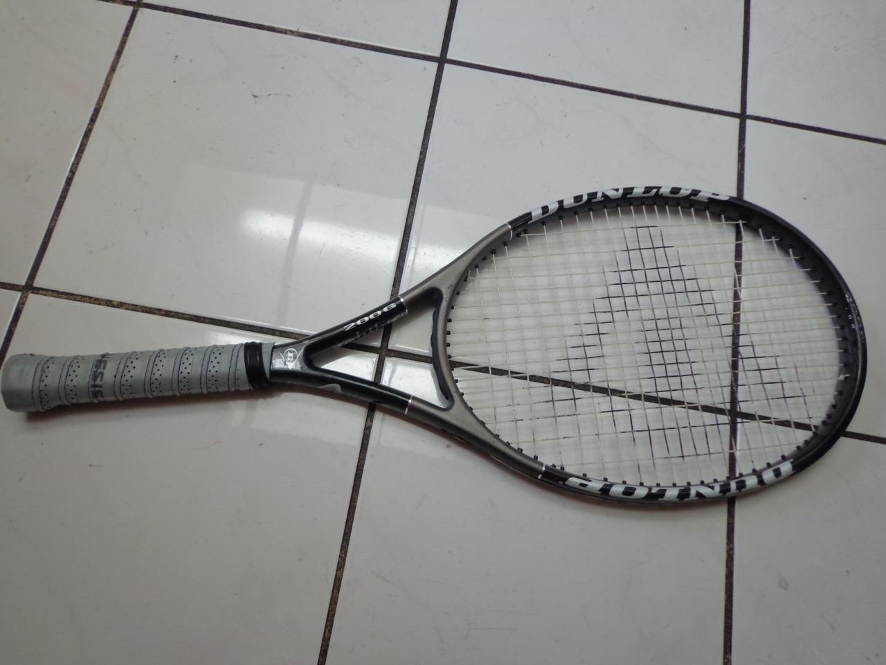 Tejido muscular gran Dunlop 108 cabeza de gran muscular tamaño 4 3/8 de Agarre Tenis Raqueta 766170