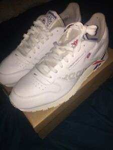 5ece4c56ad Details about REEBOK CLASSIC LEATHER - DV4629 White/Blue/Grey/Red