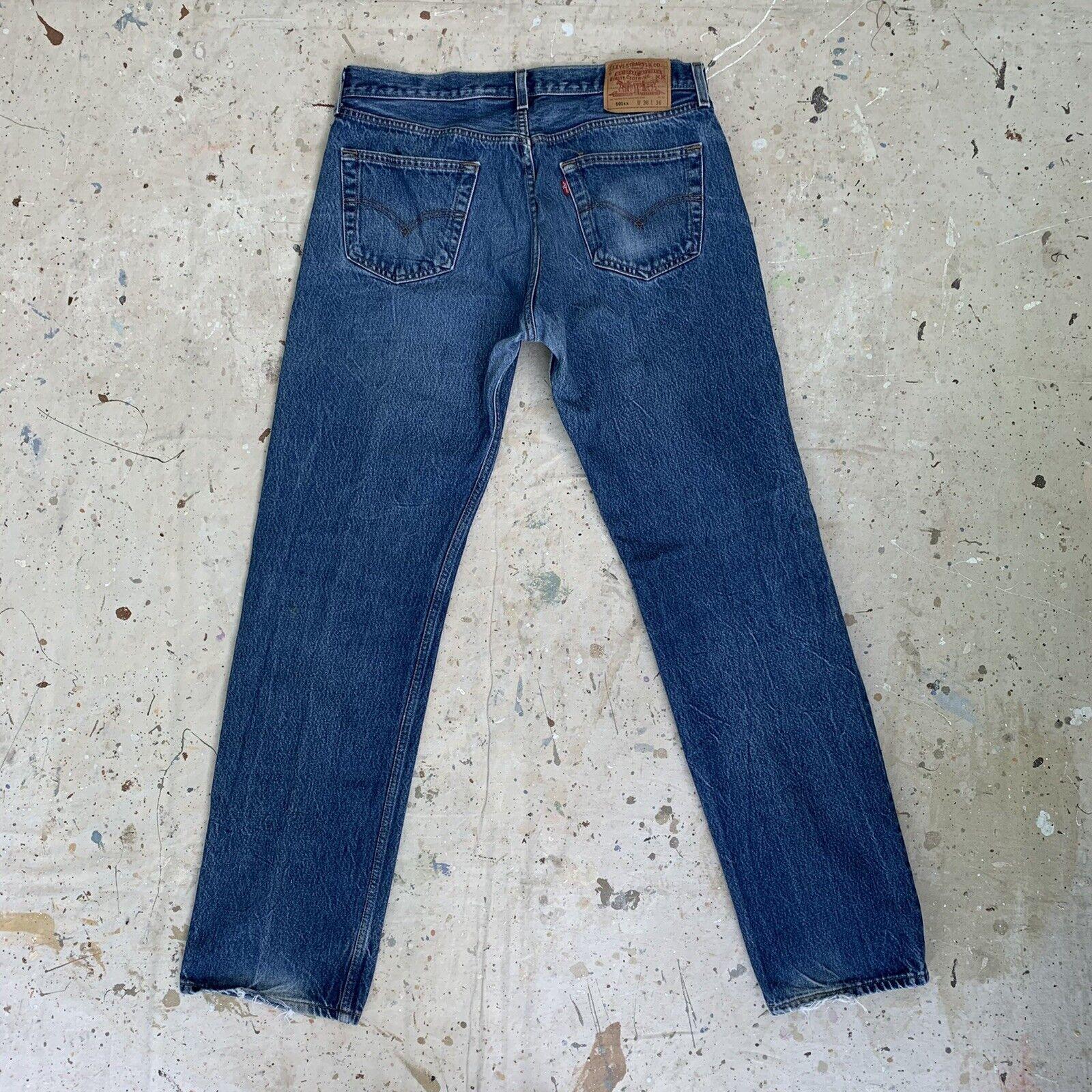 Vintage 90s Levis 501 Jeans Mens 36x36 - image 2