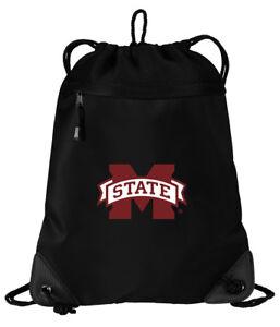 2b6cfbebb6b6 Details about Mississippi State University Cinch Bag MSU Bulldogs Backpack  - MESH & MICROFIBER