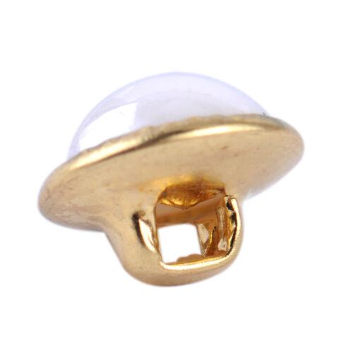 100X Perlen Knopf Runde Knöpfe Nähen Ösenknopf Kleidung Pearl Buttons 10mm Weiß
