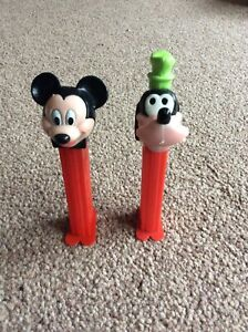 Vintage-Disney-Pez-sweet-packet-dispenser-Mickey-Mouse-Goofy