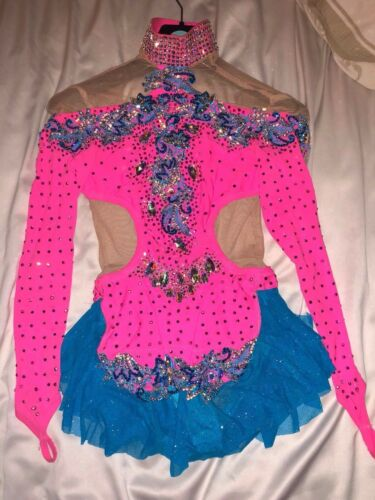 rhythmic gymnastics leotard, ice-skating. Dance costume age approx 12-16