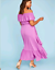 Lane-Bryant-Womens-Off-the-Shoulder-Ruffle-Maxie-Dress-Plus-14-16-18-20-Orchid thumbnail 4