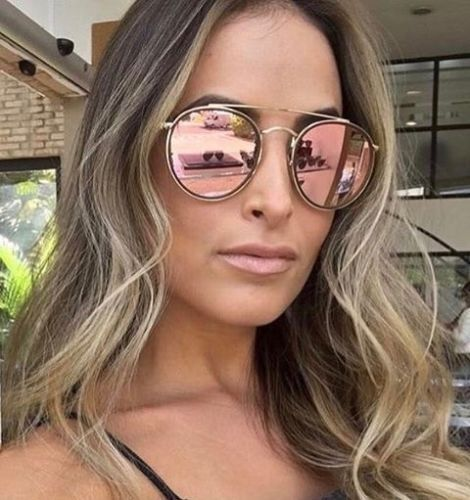55d631bc6c7 Sunglasses Ray-Ban Rb3647n Round Double Bridge 001 7o 51 Gold Mirror Pink  for sale online