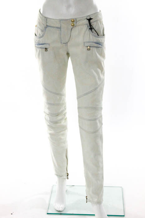 Balmain Light bluee Pant Construction Jeans Size Italian 38 New  113296