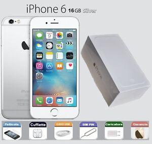 APPLE-iPhone-6-16gb-GRADO-A-B-SCATOLA-RICONDIZIONATO-GARANZIA-ARGENTO-SILVER