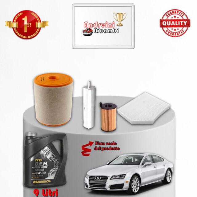 Kit de Mantenimiento Filtros de Aceite y Audi A7 3.0Tdi 183kw 239cv de 2011-