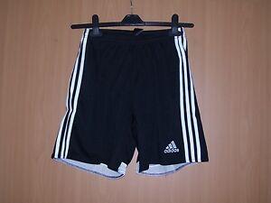 Details zu Adidas Shorts kurze Sporthose mit Innenhose schwarz Grösse 128 140 152 164 neu