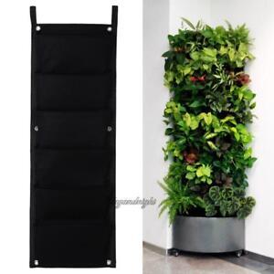 Details About 6 Pocket Wall Hanging Vertical Garden Planter Indoor Outdoor Herb Pot Decor Bag