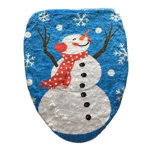 Sensational Details About Blue Sky Snowman Christmas Decoration Bathroom Toilet Seat Cover Toilet Lid Cjindustries Chair Design For Home Cjindustriesco
