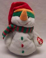 Ty Pluffies Soft Melton The Snowman 9 Plush Stuffed Animal 2003
