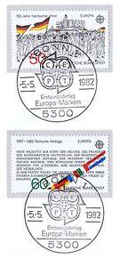 Rfa 1982: Europe: Hambach Fermement Et Traités De Rome! Nr 1130 Et 1131 1 A 1906-afficher Le Titre D'origine