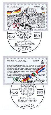 Ernst Brd 1982: Europa: Hambacher Fest Und Römische Verträge! Nr 1130 Und 1131 1a 1906