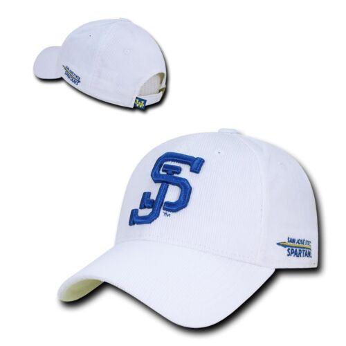 NCAA SJSU San Jose State U Spartans Structured Corduroy Baseball Caps Hats