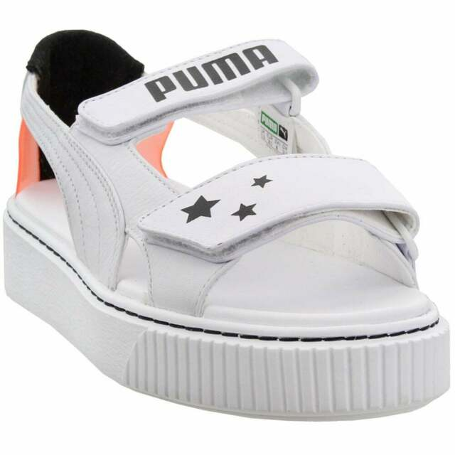 puma sandals white