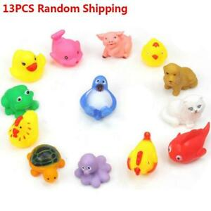 13PCS-Baby-Bath-Toys-Squeaky-Rubber-Animal-Floating-Water-Children-Kids-Toy-AE