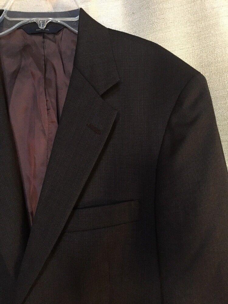 BROOKS BredHERS 346 Dark Brown Herringbone Tweed 100% WooL 40 S Mens Sport Coat
