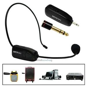 2-4G-Wireless-Microphone-Speech-Headset-Megaphone-Radio-Mic-For-Loudspeaker-V