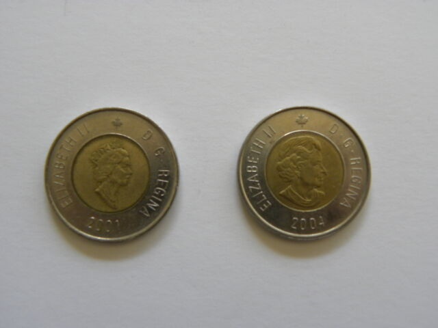 2 Dollars - Canadian Coin 2001 or 2004 - Canada - Toonie