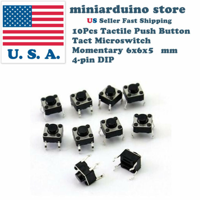 6x6mm Panel PCB Miniature Momentary Tactile Tact Touch Push Button Switch 4 Pin