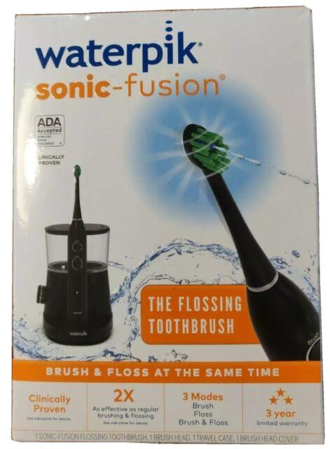 Waterpik SF-01W022-2 Sonic Fusion Flossing Toothbrush - Black