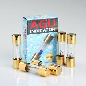 s l300 5 pack agu fuse 80a amp gold plated glass with blown fuse led