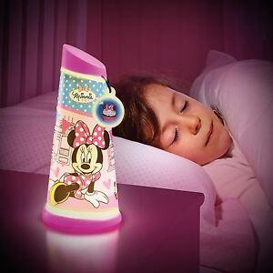 Minnie-Mouse-Iluminan-Lampara-Mesilla-INCLINABLE-Linterna-NUEVO-Lampara